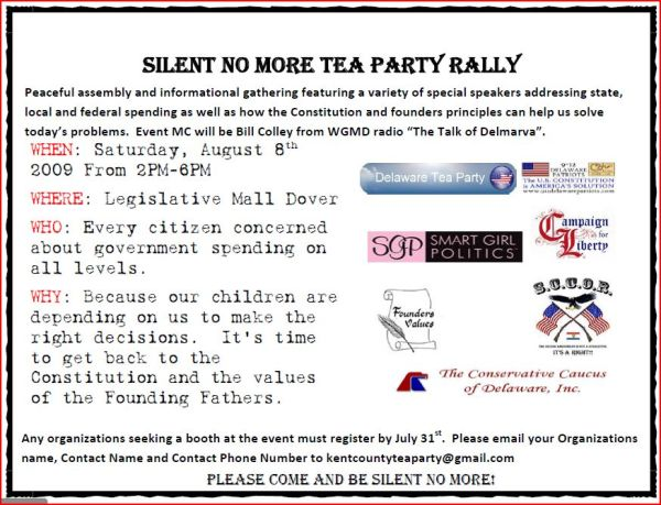 Silent No More Tea Party Rally 08082009